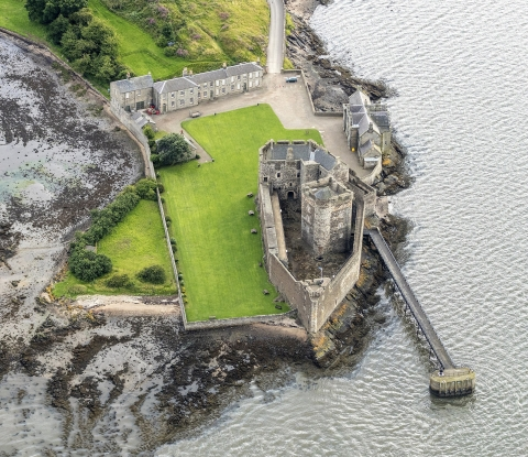 Aerial view of Blackness Castle
