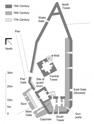 Plan of Blackness Castle