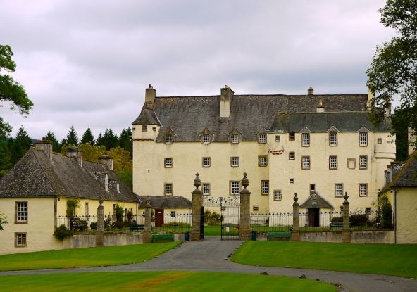 Side entrance to Traquair House