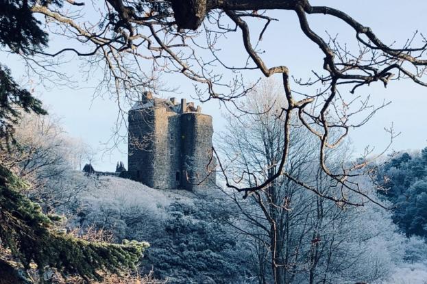 Neidpath Castle is magical in winter