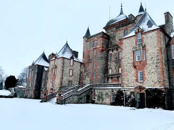 See Thirlestane Castle in the snow