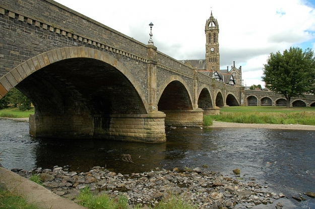 The River Tweed in Peebles