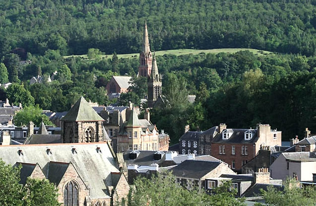 Church spires in Galashiels