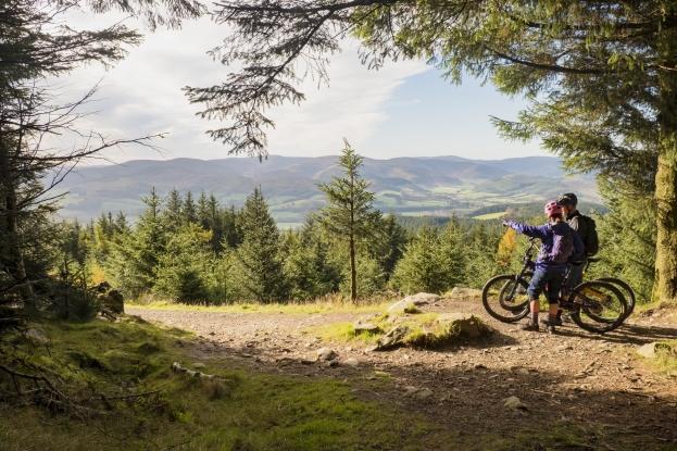 Enjoy incredible views at Glentress