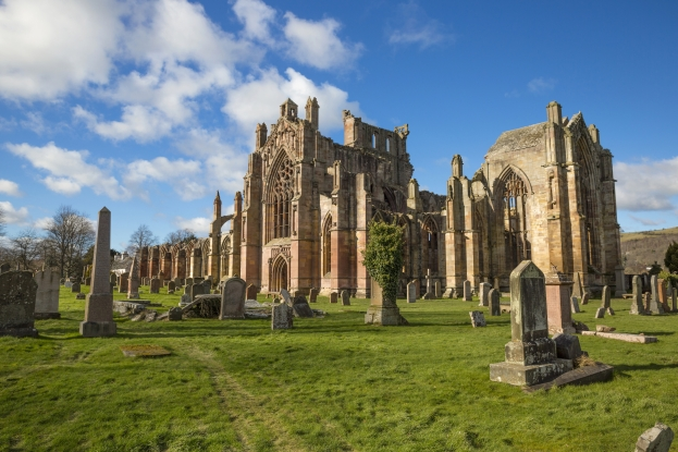 Melrose Abbey conceals many mysteries...