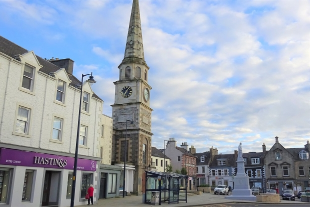 Selkirk's historic town centre and tollbooth
