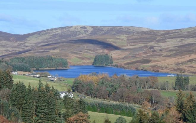 View of Baddinsgill Reservoir from Lamb Rig