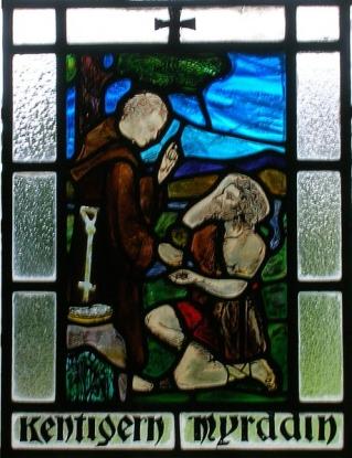 Did St. Mungo baptise Merlin at Stobo Kirk?