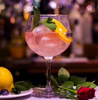 Life looks rosier with a glass of pink gin