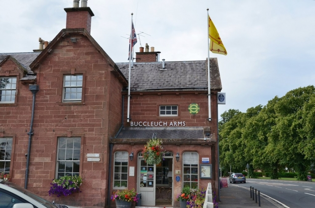 Unwind in the lovely garden of the Buccleuch Arms