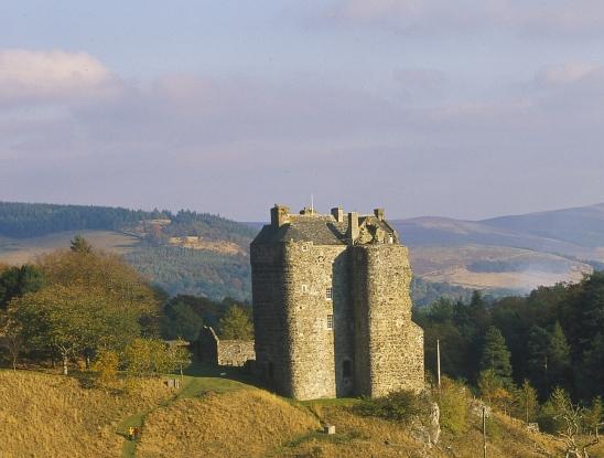 A romantic view of Neidpath Castle